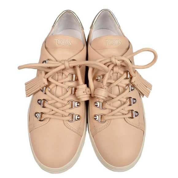 Nwb Tods Tasseled Leather Sneakers In